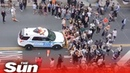 NYPD cop cars 'deliberately' drive into crowd of George Floyd protesters in Brooklyn
