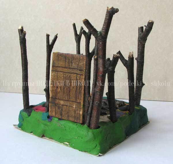 Домик Нуф- Нуфа из веток Нуф-Нуф решил строить домик из веток. Возможно, он просто начал строить шалаш но мы посмотрим, как из веток можно построить настоящий домик. Дома из дерева очень