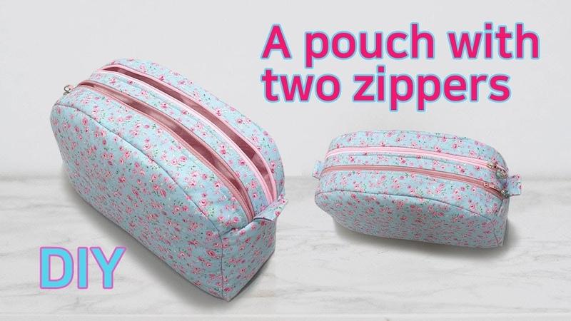 DIY double pouch double pouch tutorial 두개의 지퍼파우치 파우치 만들기 Machen Sie einen doppelten Beutel