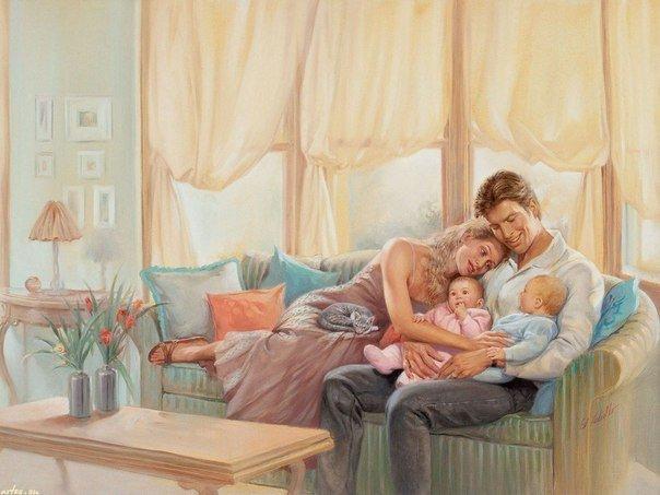 Любому хочется домашнего уюта, Тепла душевного и радости в глазах,И чтобы каждая бегущая минутаПриятной стала, в жизни метражах.Сама собой рождалась, чтоб улыбка,От чувств, что согревают нас в