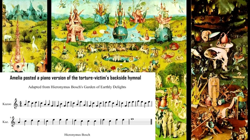 600 years old sinners' hymn hidden in Hieronymus Bosch's painting The Garden of Earthly Delights