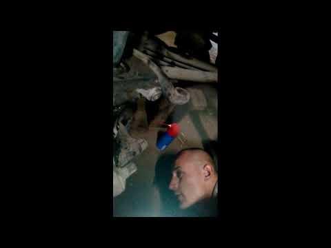 ISUZU Выбиваем шкворень выстрел кусочком металла от пики
