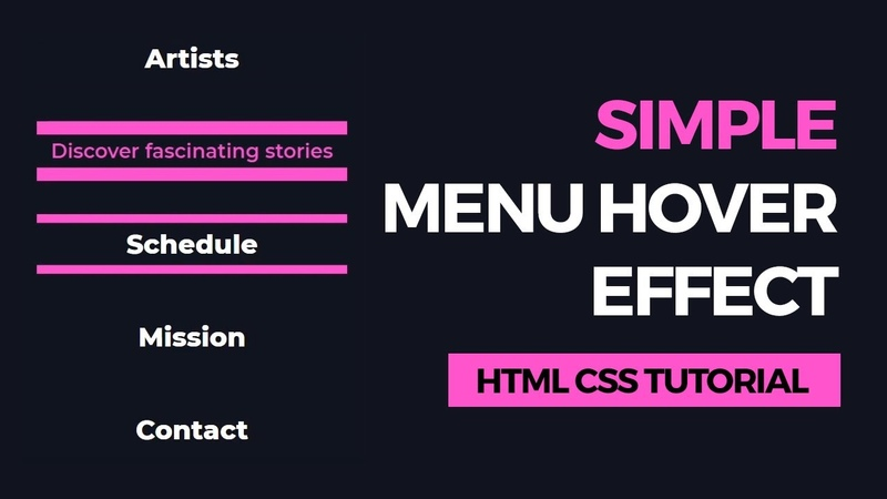 Simple Menu Hover Effect 6 - HTML CSS