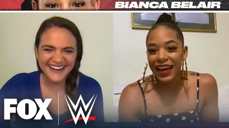 My1 Bianca Belair 1 on 1 interview with Charlotte Wilder WWE ON FOX