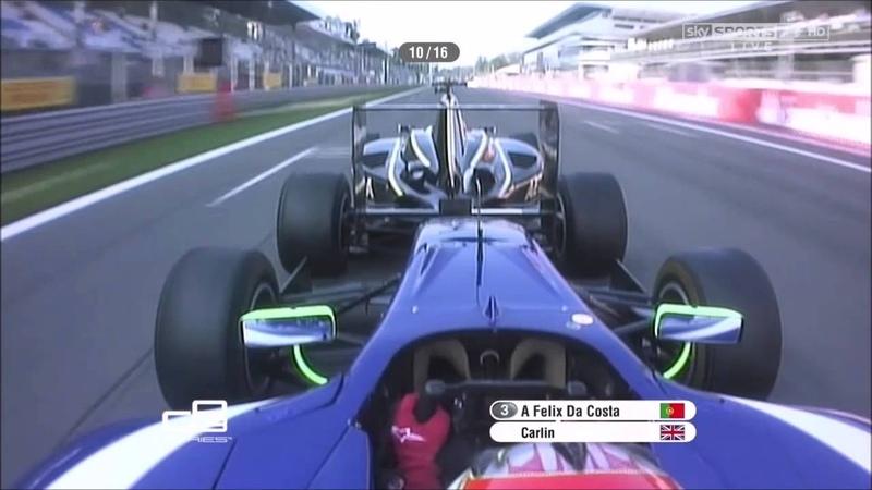 Da Costa bump drafting Vainio - GP3 Monza '12