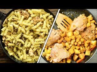 7 ИДЕЙ ужина или обеда на сковороде  оригинально, быстро и недорого