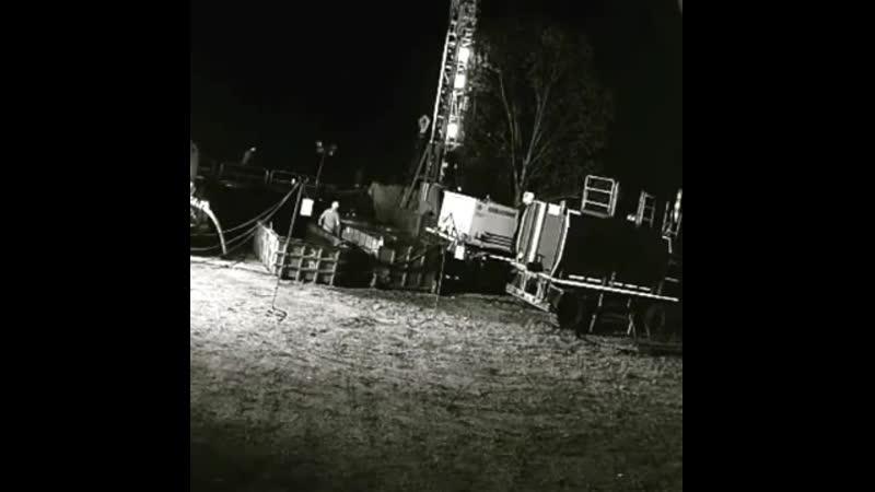 Ремонт нефтяной скважины Возгорание