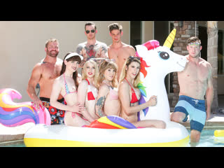 Trans Pool Party (Natalie Mars, Lena Kelly, Casey K, Janelle Fennec)
