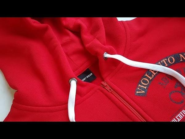 How to sew a zip in a hoodie. Jak uszyć ekspres w bluzie z kapturem.