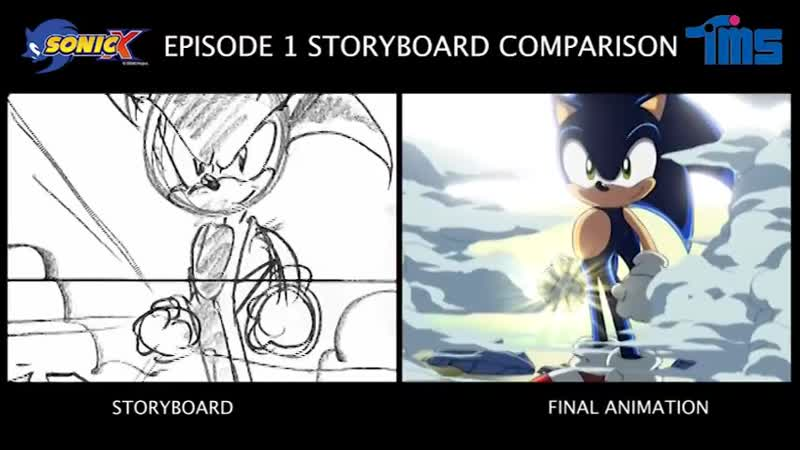 Happy Birthday Sonic X Exclusive Sonic sketches and storyboard comparison