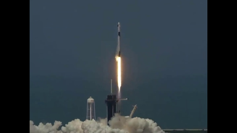 SpaceX Falcon 9 successfully lifts off carrying two U S astronauts to the ISS ABC News