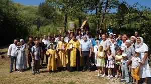 По инициативе казаков Липецкого района установлен Поклонный крест у купели (фото)