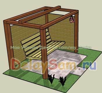Диван качели (своими руками) Забирайте к себе на стенку, чтобы не потерятьВ защищенном от ветров тихом солнечном месте, где нибудь в саду хорошо поставить садовый диван качели. На нем приятно