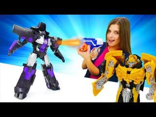 Toy Friend  Бен 10 иБамблби вШоу ToyClub! Автоботы против десептиконов Видео для детей странсформерами