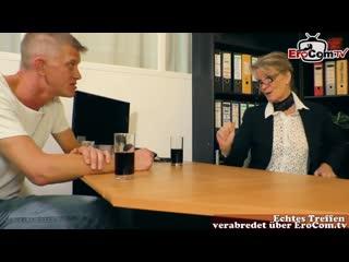German mature secretary seduced guy in office