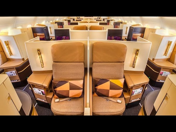 Etihad Airways Boeing 787 Dreamliner Business Class Studio from Abu Dhabi to Bangkok