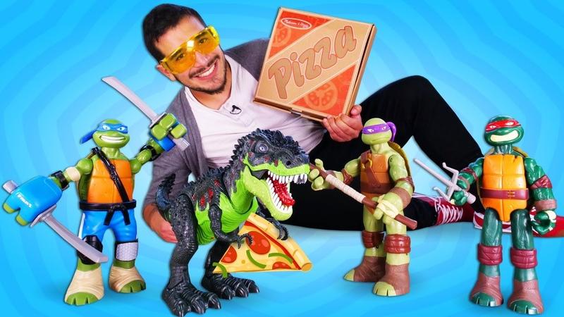 Las Tortugas Ninja comen pizza Vídeos de superhéroes y Transformers Marvel en español