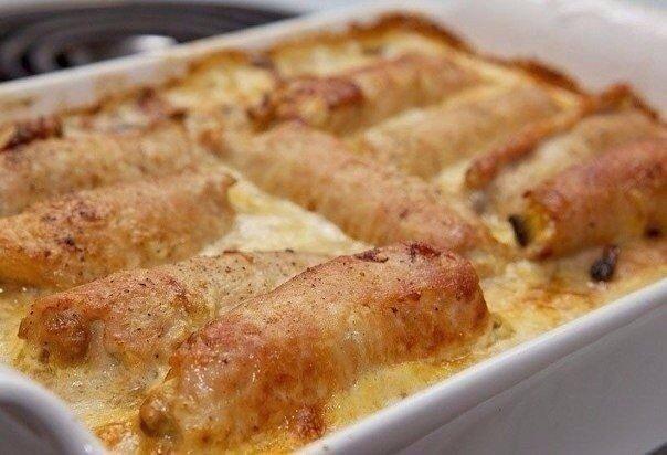 Потрясающие вкусные Рулеты из свинины с грибами