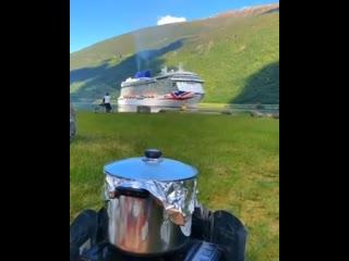 Полевая кухня в Норвегии  Как Вам вид