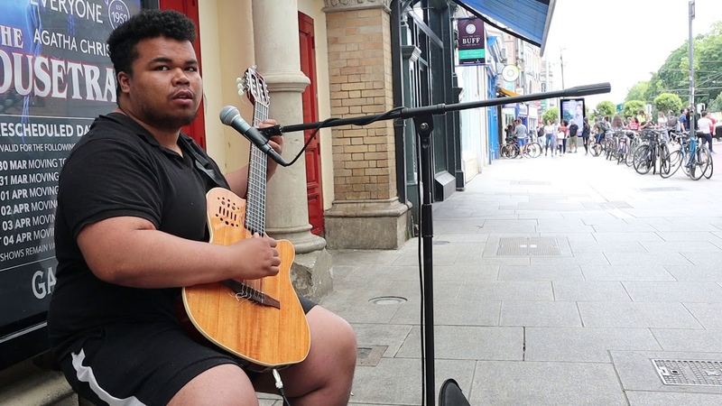 More busking from Fabio w My All Mariah Carey Filmed Sunday 14th June