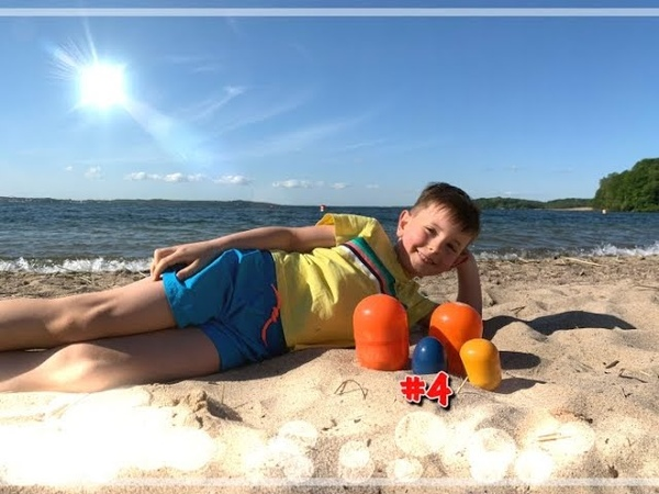 Отдых на море Давид ищет сокровище Видео для детей
