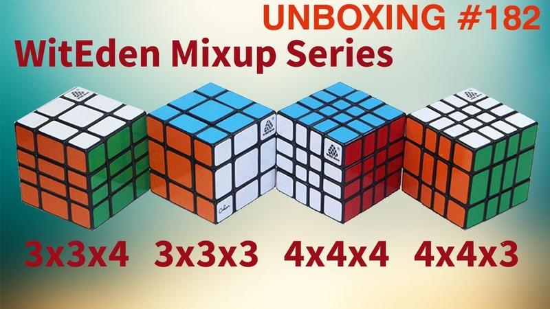 Unboxing №182 WitEden Mixup Series 3x3x4 4x4x3