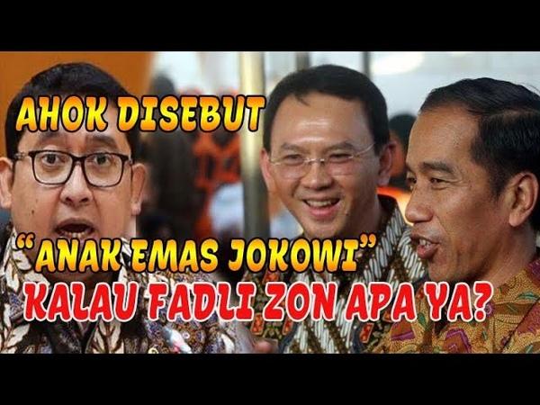 "Kalau AHOK Disebut Anak Emas Jokowi"" Kalau Fadli Zon Cocoknya Apa Nih"