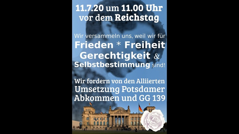 Aufruf an alle Fans von Oliver Janich am 11. Juli 2020 auf nach Berlin zum Reichstag!