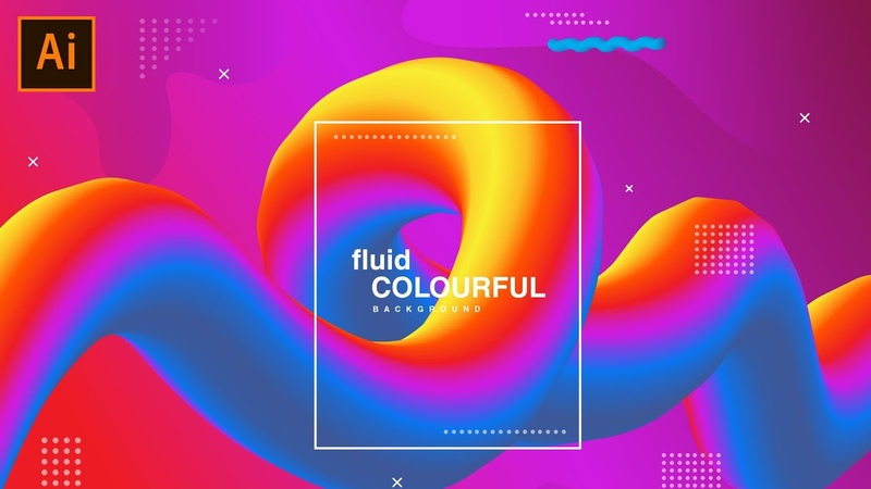 BLEND TOOL | Illustrator tutorial (Abstract Vector Background)