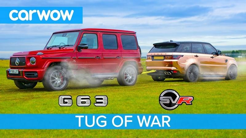 AMG G63 vs Range Rover Sport SVR TUG OF WAR - Mat vs Yianni!
