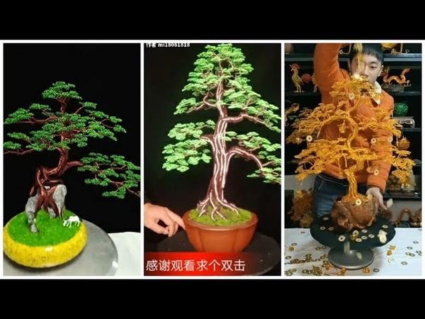 Tik Tok Trung Quốc 10 Cách hướng dẫn làm cây bonsai tuyệt đẹp từ dây kẽm