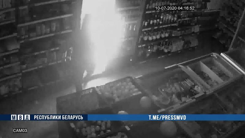 В Быхове двое мужчины обокрали магазин Их нашли пьяными под автомобилем