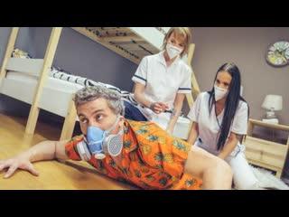 Fake Hostel - Stuck Between Two Nurses / Jennifer Mendez, Ariela Donovan