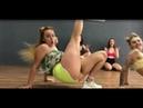 Two girls dance twerk