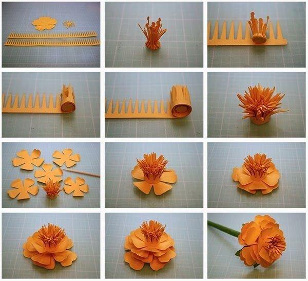 Делаем бумажный цветок Все просто, главное сохраняй