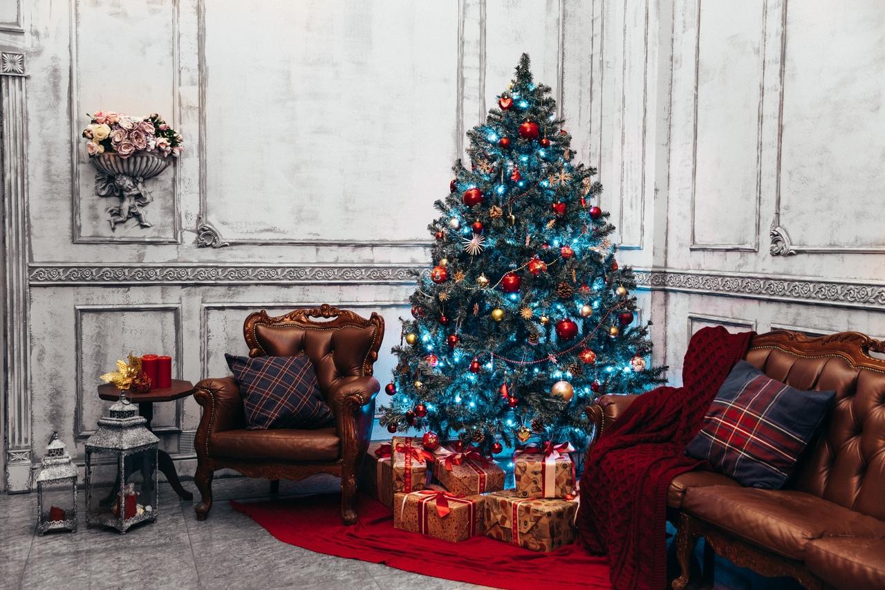 новогодние декорации в фотостудии спб двухскатная