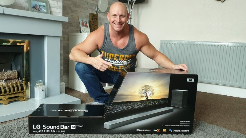 LG Soundbar SL8YG unboxing setup Atmos demo and vs LG C9 speakers