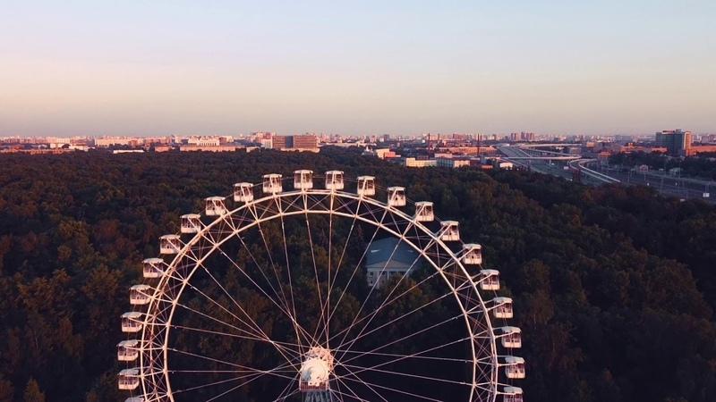 Sunset on Ferris wheel