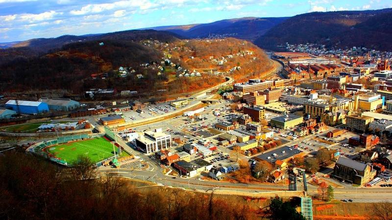 Johnstown Panorama Of City Pennsylvania