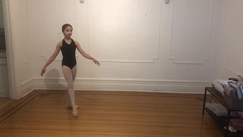 Emma Ehrlander ballet variation age 9