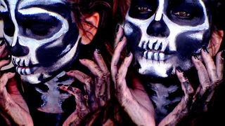 Skeleton Makeup Tutorial Halloween 2014!   Kayleigh Noelle