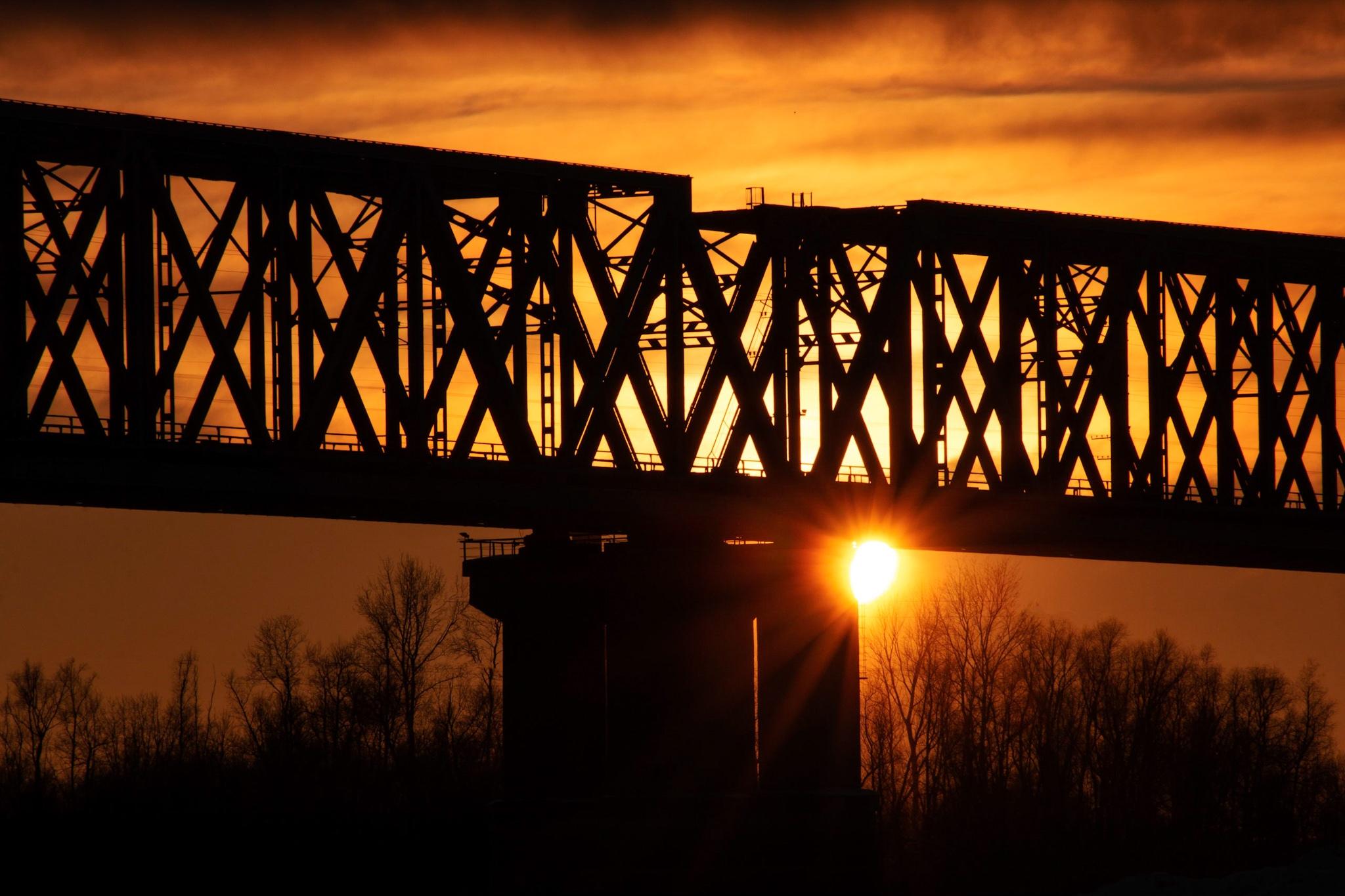 ЖД мост через Иртыш