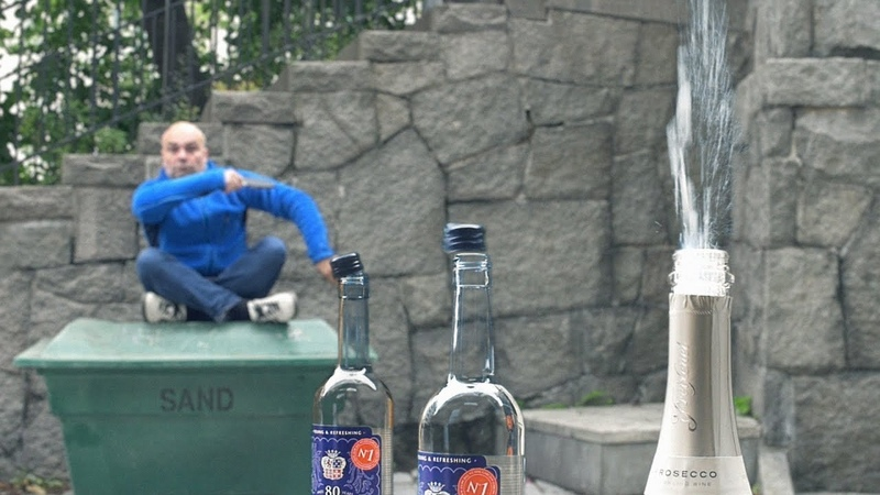 Bottle Cap Challenge Tumba Ping Pong Show featuring Booze'n'Lose