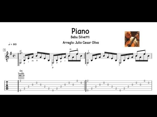 Bebu Silvetti Piano arreglo Julio César Oliva TAB