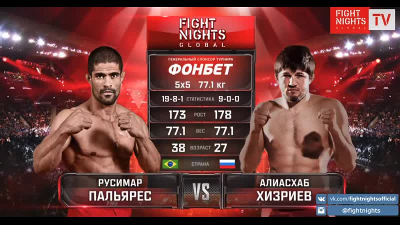 Русимар Пальярес vs Алиасхаб Хизриев