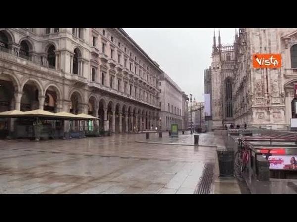 Epifania a Milano in zona rossa piazza Duomo e Galleria si presentano deserti
