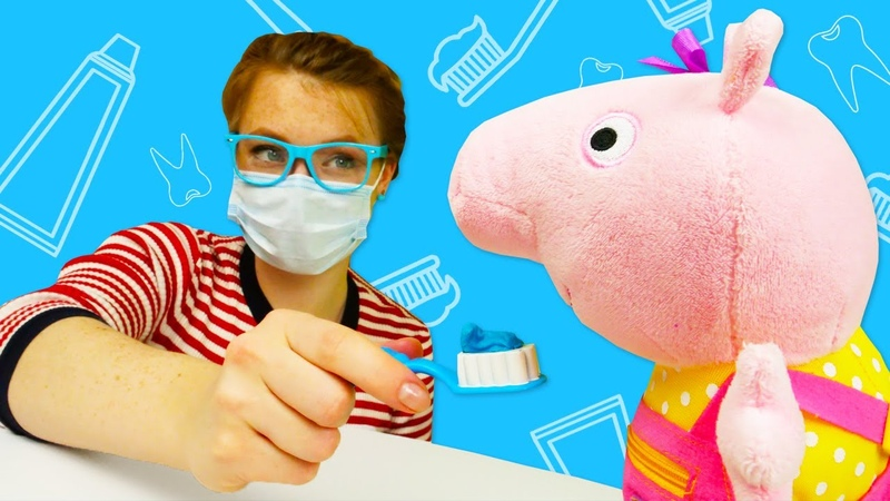 Spielzeug Video für Kinder 2 Folgen mit Peppa Wutz auf Deutsch Lernen mit Peppa und Schorsch