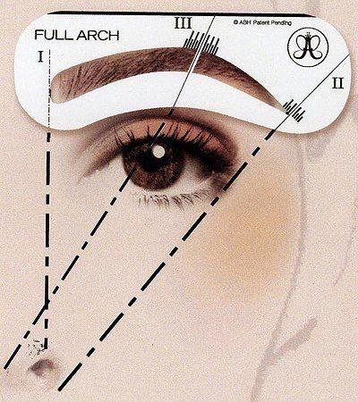 Главные правила идеального макияжа бровей 1. Чтобы понять, где должна начинаться бровь, проведите вертикальную линию от центра ноздри вверх. В точке пересечения с бровной дугой и будет начало