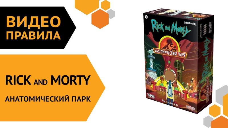 Рик и Морти Анатомический парк настольная игра Правила игры 🎡🎢🏰🎅