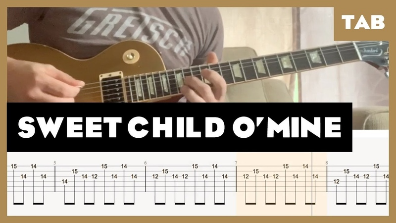Sweet Child O' Mine Cover Guitar Tab Lesson Tutorial